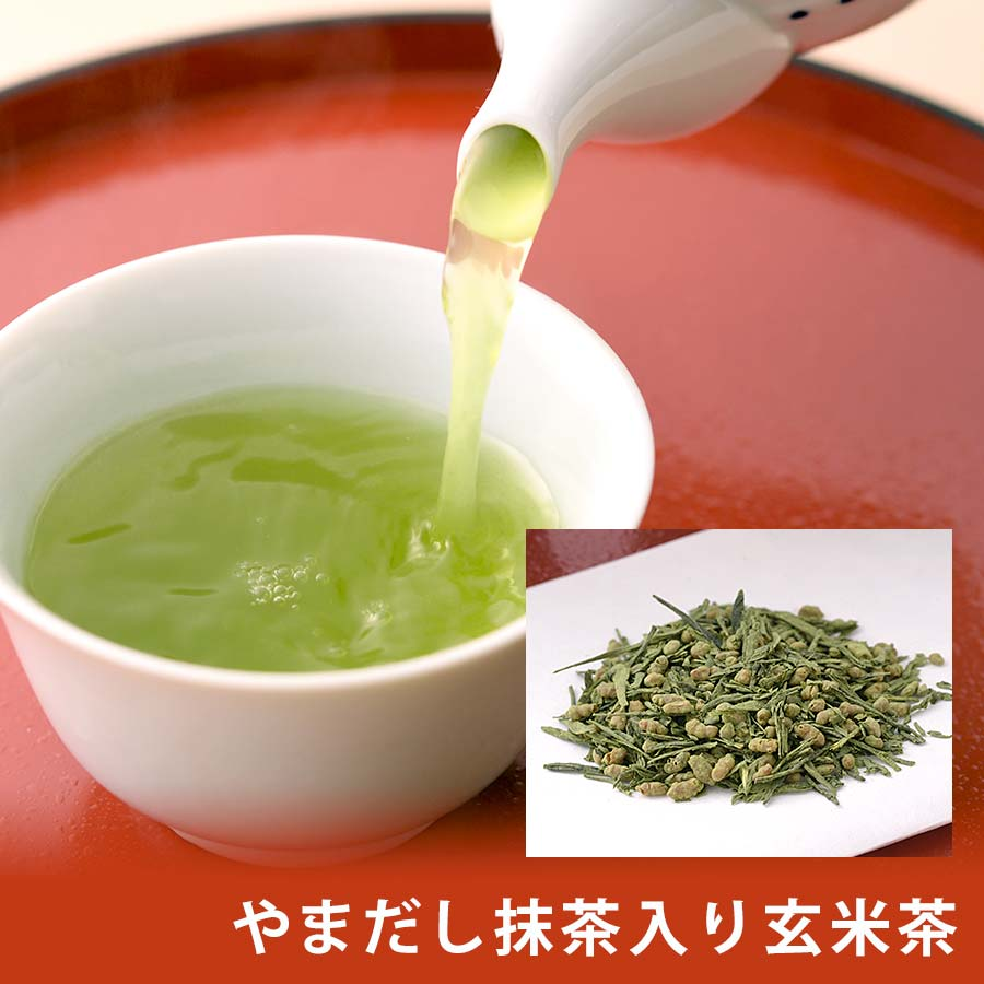 やまだし抹茶入り玄米茶 200g 錦市場【茶・やまだしや】