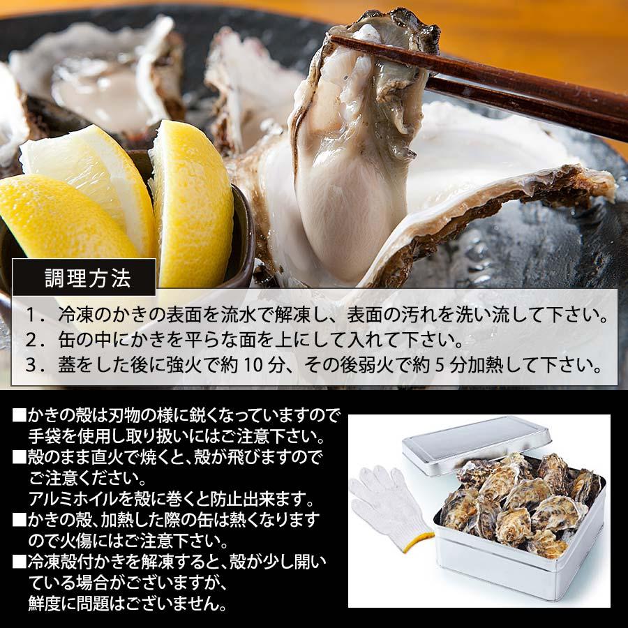 兵庫県産生冷殻付かき缶焼き 産地直送【殻付き牡蠣1.5㎏】【かき屋 錦・だいやす】